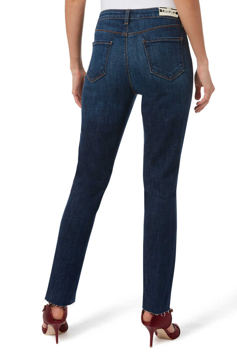 Luna High Rise Straight Jeans image number 3