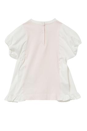 Cotton Jersey and Poplin Dress