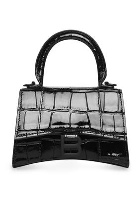 Hourglass Mini Top Handle Bag with Chain