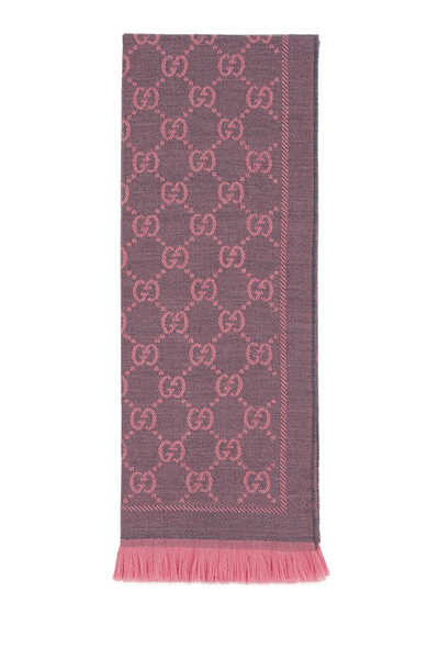 GG Jacquard Pattern Knitted Scarf