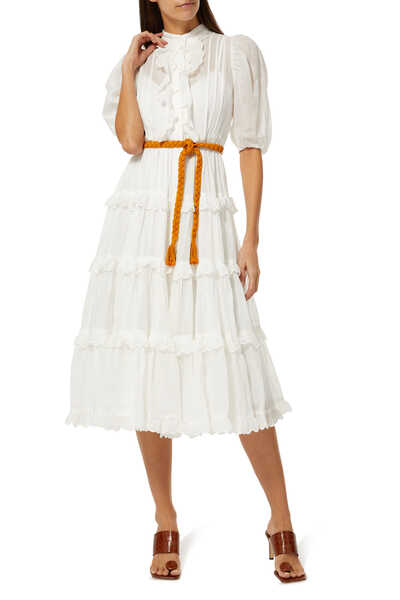 Amelie Scallop Frill Dress