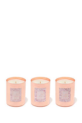 Three Metal Container Candle Gift Set