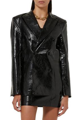 Fox Leather Blazer