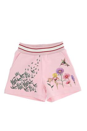 Flower Cotton Shorts