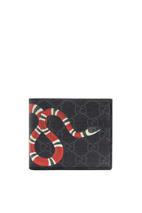 GG Supreme Kingsnake Print Large Wallet