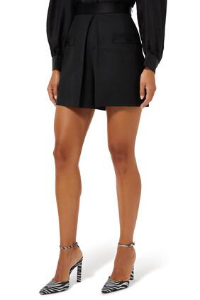 High-Rise Wool Shorts