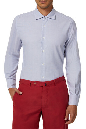 Slim-Fit Cotton Poplin Oxford Shirt