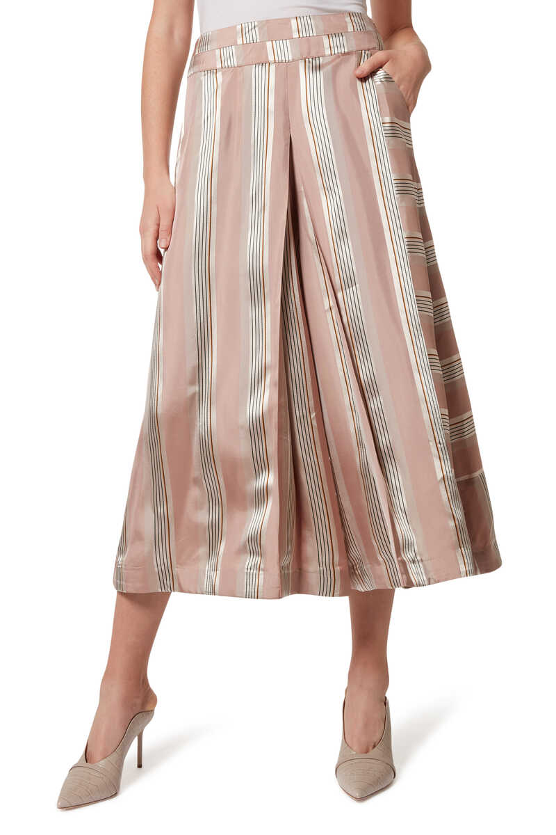 Vana Striped Culottes image number 1