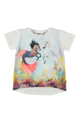 Sea Ponies Graphic Print T-shirt