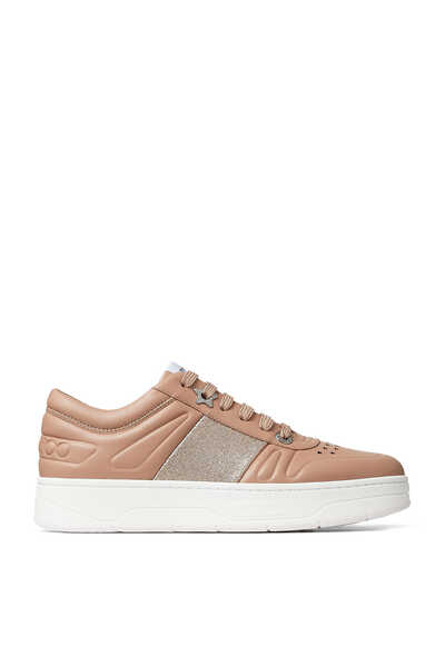 Lace-Up Calf Leather Sneakers