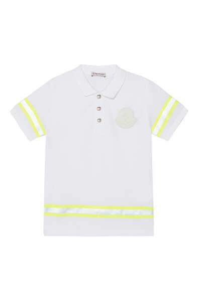 Reflective Stripes Logo Badge Polo Shirt