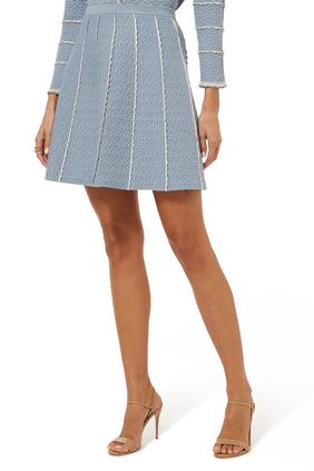 A-Line Mini Knit Skirt