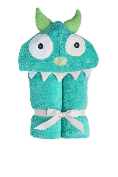 Monster Printed Two-Sided Hooded Towel