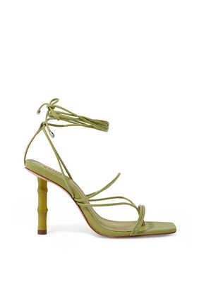 Bamboo Heel Tie-Up Sandals