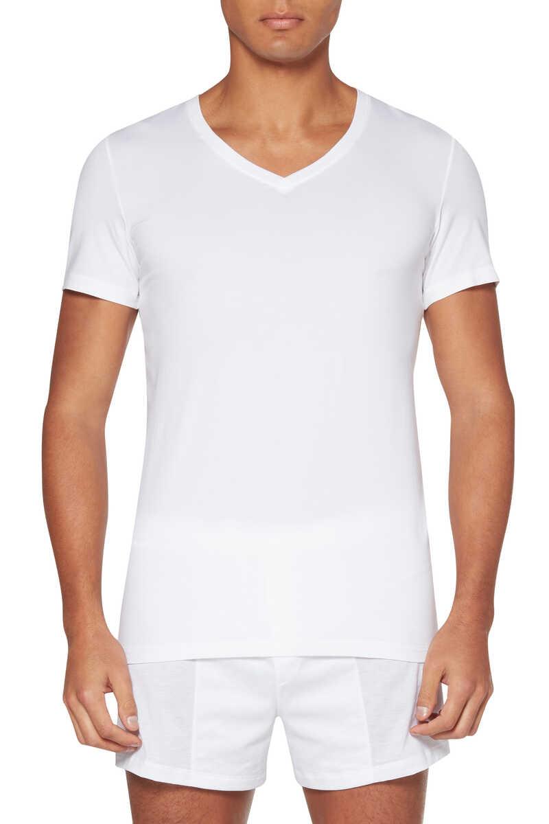 Cotton Superior V-Neck Top image number 1