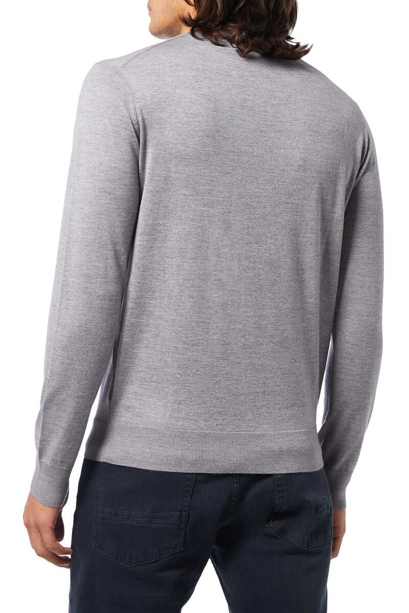 Solid Knit Pullover image number 3