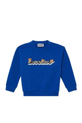 Logo and Teddy Bear Sweatshirt