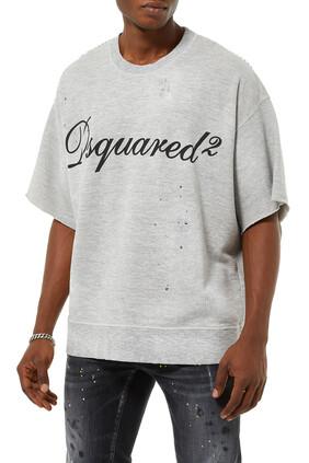 Slouchy Slogan Sweatshirt