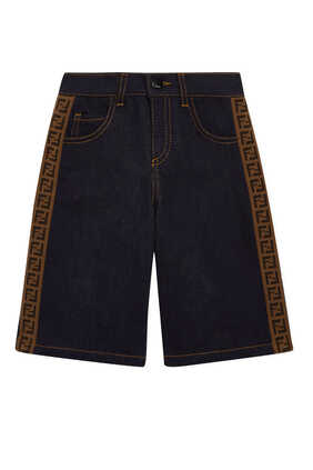 FF Band Denim Shorts