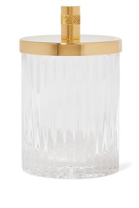 Roman Crystal Cotton Jar