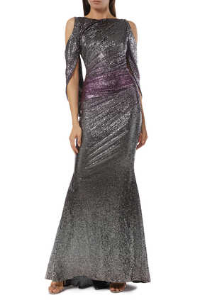 Ponceau Mirrorball Stretch Gown