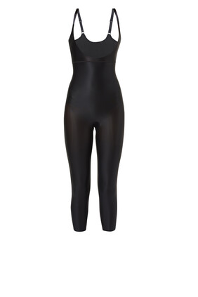 Suit Your Fancy Open Bust Catsuit