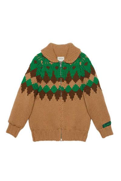 Geometric Wool Cardigan