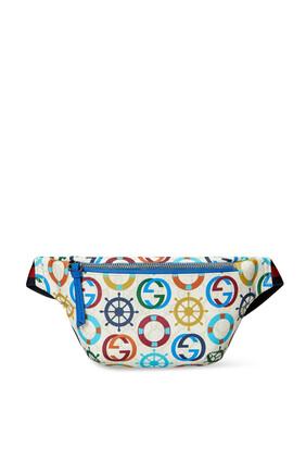 GG Sea Print Belt Bag