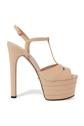 Angel Leather Platform Sandals