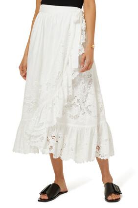 Lulu Scallop Wrap Skirt