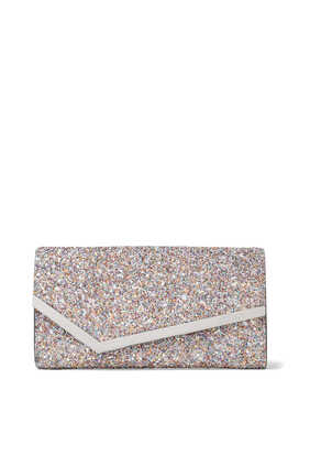 Emmie Glow In The Dark Coarse Glitter Clutch Bag