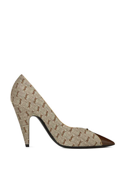 Lola 95 Monogram Jacquard And Smooth Leather Pumps