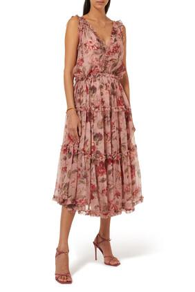 Cassia Silk Midi Dress