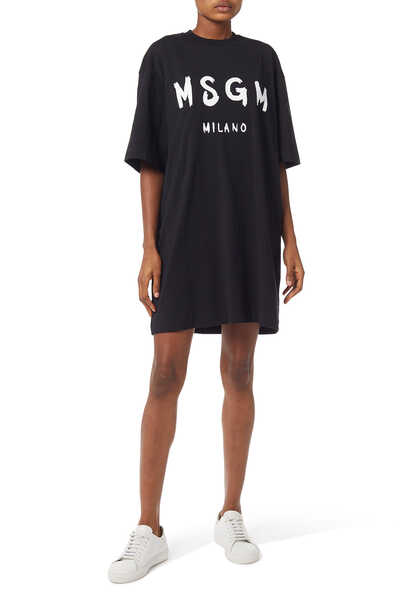 Oversized Logo T-Shirt Dress