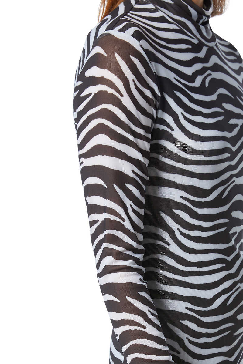 Brae Zebra-Print Midi Dress image number 4