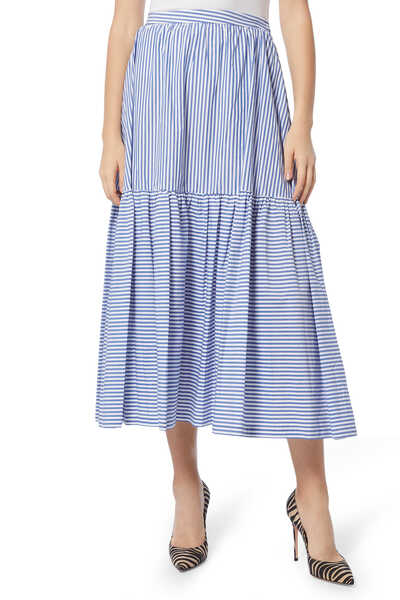 Orchid Striped Cotton Skirt