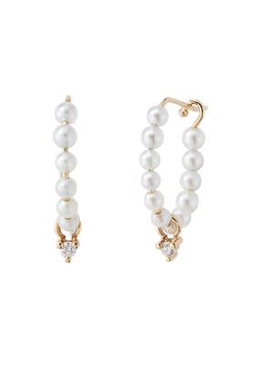 Baby Pearl Hoop Earrings