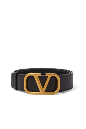 Valentino Garavani VLogo Leather Belt