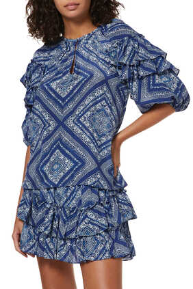 Alison Ruffled Sleeve Top