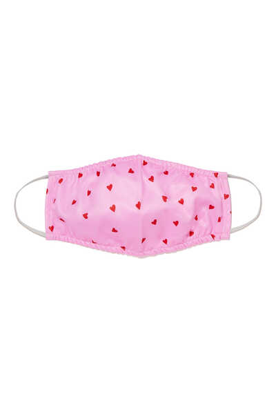 Girls Hearts Mask and Pouch