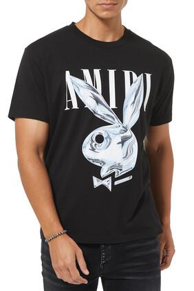 Metallic Playboy Bunny T-shirt