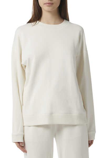 Ribbed Roundneck Sweatshirt
