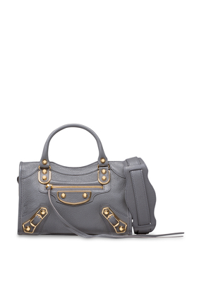 Metallic Edge City Mini Shoulder Bag