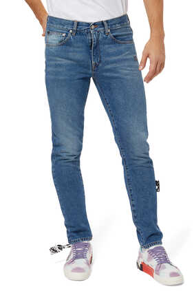Diagonal Eco Slim Denim Jeans