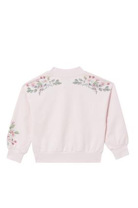 Floral Appliqué Sweatshirt