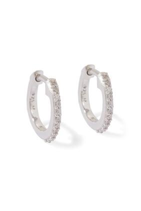 Pavé Huggie Hoop Earrings