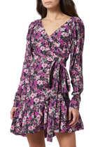 Floral-Print Nancy Wrap Dress