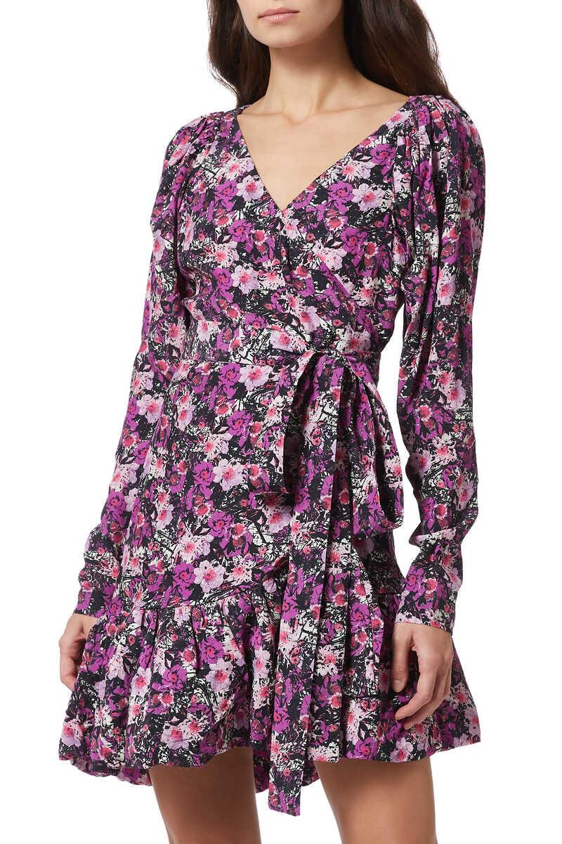 Floral-Print Nancy Wrap Dress image number 1