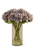 Artificial Hydrangea Arrangement in Glass Vase