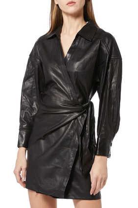 Perrine Leather Mini Dress